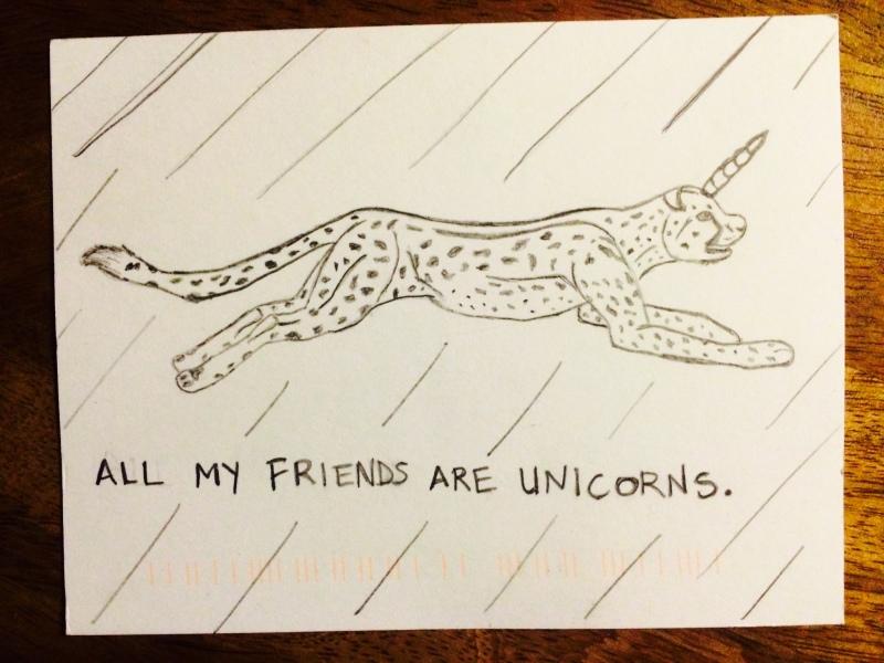 all my friends are unicorns