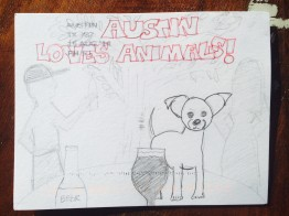 Austin loves animals