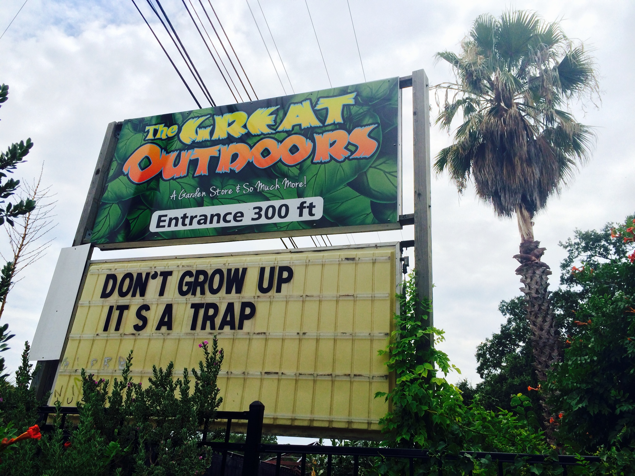 The great outdoors austin congress - Driving Down S Congress The Other Day I Laughed Out Loud In My Car All By Myself As I Passed By This The Great Outdoors Marquee Reminding Us That Being