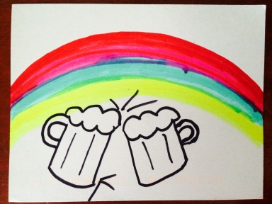 beer and rainbows