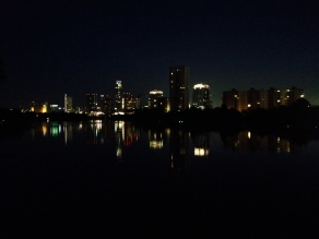 city view from boardwalk