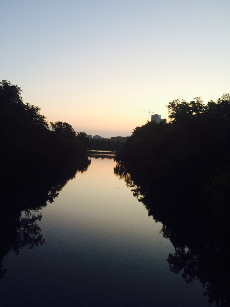 lady bird lake at sunrise