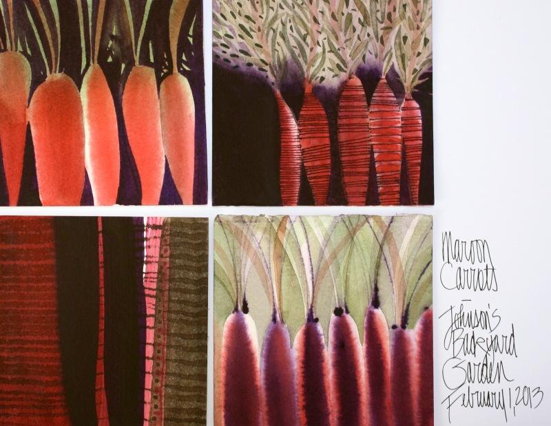 Maroon Carrots 4 x 4